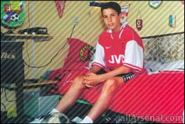 Arsenal News: Boyhood snaps of Wilshere and Van Persie show perhaps the duo were destined for Arsenal!