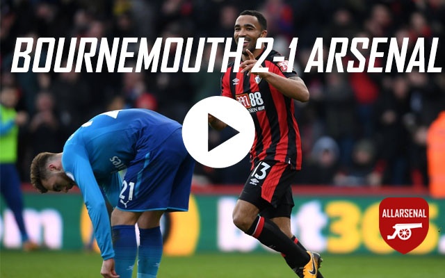 [Match Highlights] AFC Bournemouth 2-1 Arsenal – All The Goals And Best Bits