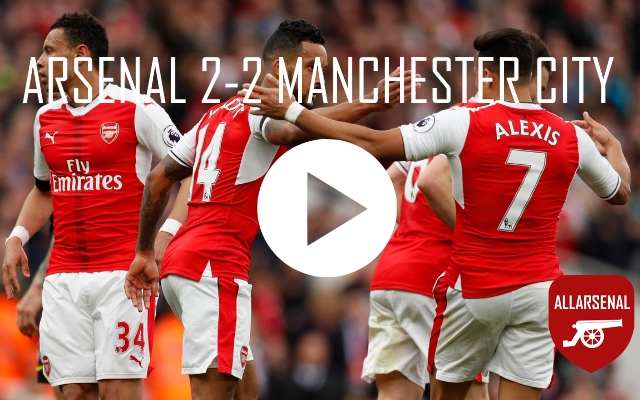 Arsenal 2-2 Manchester City [Match Highlights] – All The Goals And Best Bits