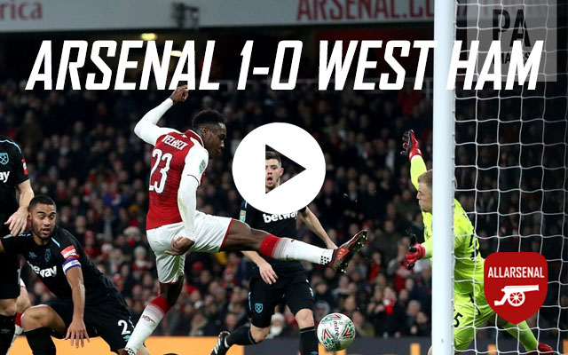 [Match Highlights] Arsenal 1-0 West Ham United – All The Goals And Best Bits