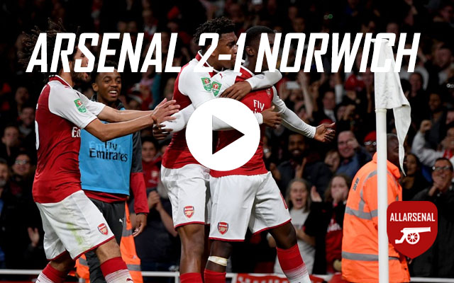 [Match Highlights] Arsenal 2-1 Norwich – All The Goals And Best Bits