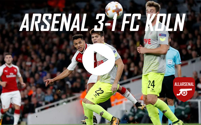 [Match Highlights] Arsenal 3-1 FC Koln – All The Goals And Best Bits