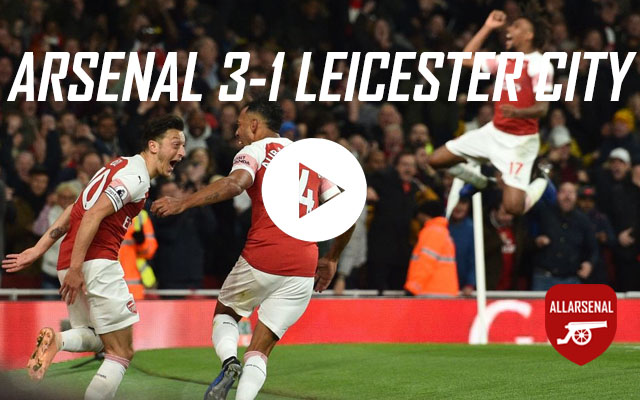 [Match Highlights] Arsenal 3-1 Leicester City – All The Goals & Best Bits
