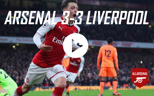 [Match Highlights] Arsenal 3-3 Liverpool – All The Goals And Best Bits