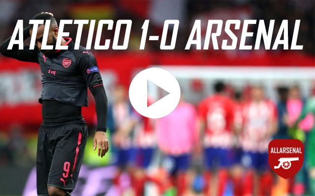 [Match Highlights] Atletico Madrid 1-0 Arsenal – All The Highlights