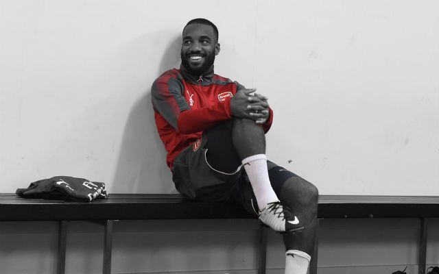 Lacazette Pictured In Arsenal Training For The First Time