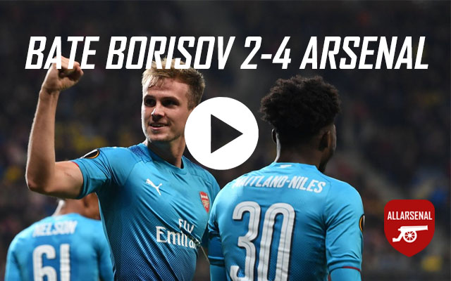 [Match Highlights] Bate Borisov 2-4 Arsenal – All The Goals And Best Bits
