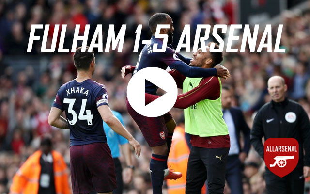 [Match Highlights] Fulham 1-5 Arsenal – All The Goals And Best Bits