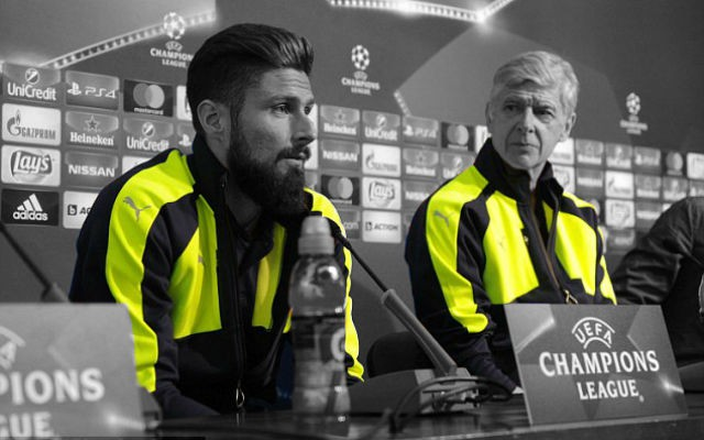 "Wenger Calls Giroud A ""Fighter"", Says He Has Improved At Arsenal"