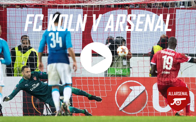 [Match Highlights] FC Koln 1-0 Arsenal – All The Goals And Highlights