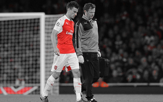 [Video] Major blow as Koscielny is benched against Bayern Munich with hip injury