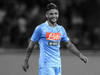 Insigne honoured to be linked with Arsenal, claims agent