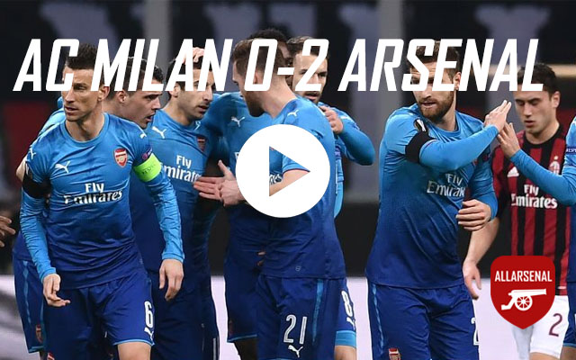 [Match Highlights] AC Milan 0-2 Arsenal – All The Goals And Best Bits