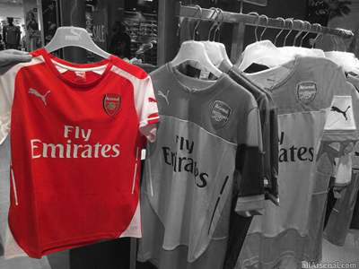 Photo: Arsenal's new home jersey already on sale?