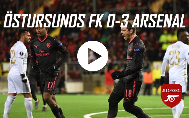 [Match Highlights] Östersunds FK 0-3 Arsenal – All The Goals And Best Bits