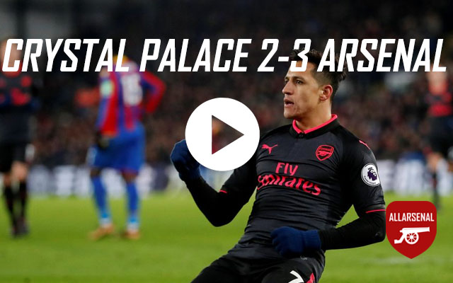 [Match Highlights] Crystal Palace 2-3 Arsenal – All The Goals And Best Bits