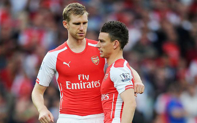 Per Mertesacker Laurent Koscielny Arsenal