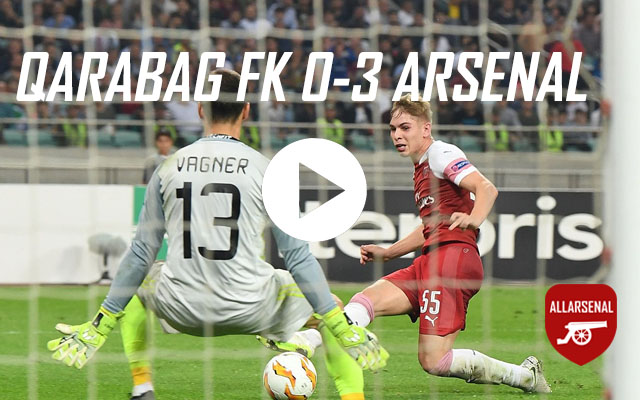 [Match Highlights] Qarabag FK v Arsenal – All The Goals And Best Bits