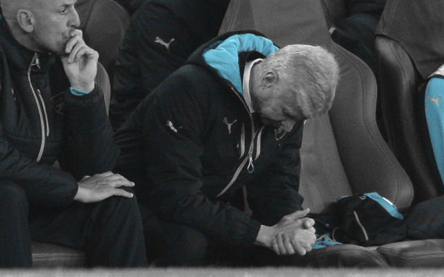 Wenger says, 'we have to look at ourselves', but the manager is to blame