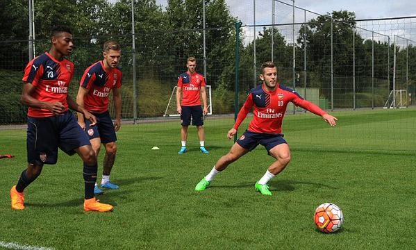 Wilshere training