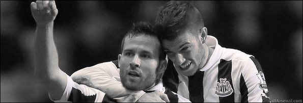 Yohan Cabaye and Davide Santon Large