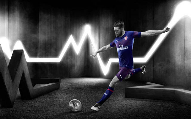 Aaron Ramsey Featured Prominently As Arsenal Launch New Away Kit