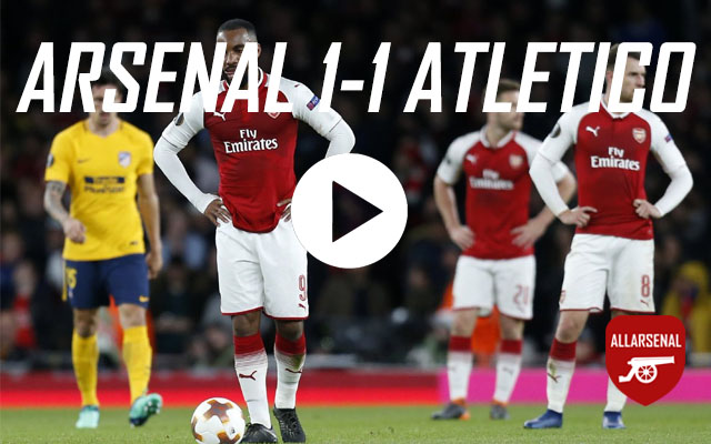 [Match Highlights] Arsenal 1-1 Atletico Madrid – All The Goals And Highlights