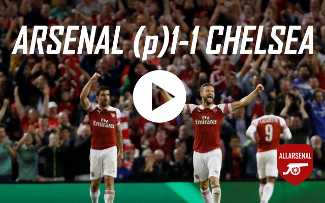 [Match Highlights] Arsenal (p)1-1 Chelsea – All The Goals And Best Bits