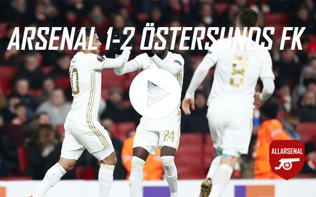 [Match Highlights] Arsenal Östersunds FK – All The Goals And Best Bits