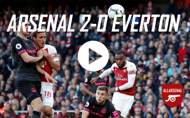 [Match Highlights] Arsenal 2-0 Everton – All The Goals & Best Bits