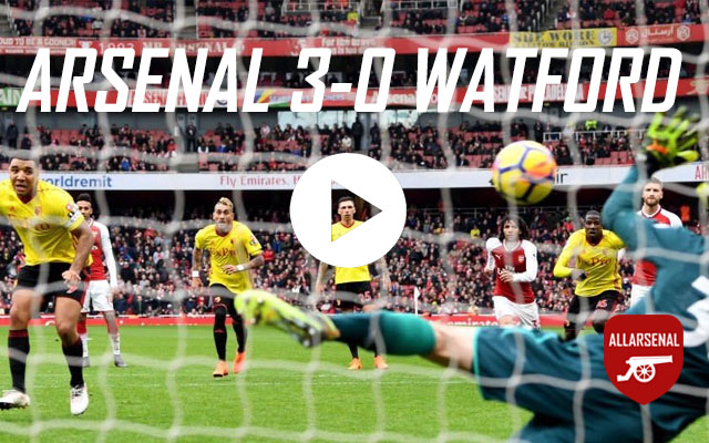 [Match Highlights] Arsenal 3-0 Watford – All The Goals & Best Bits