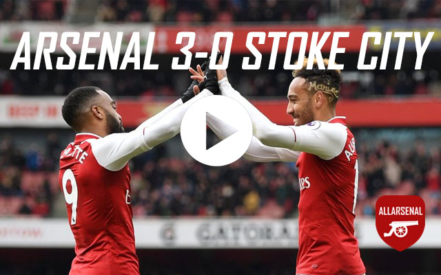 [Match Highlights]Arsenal 3-0 Stoke City – All The Goals And Best Bits