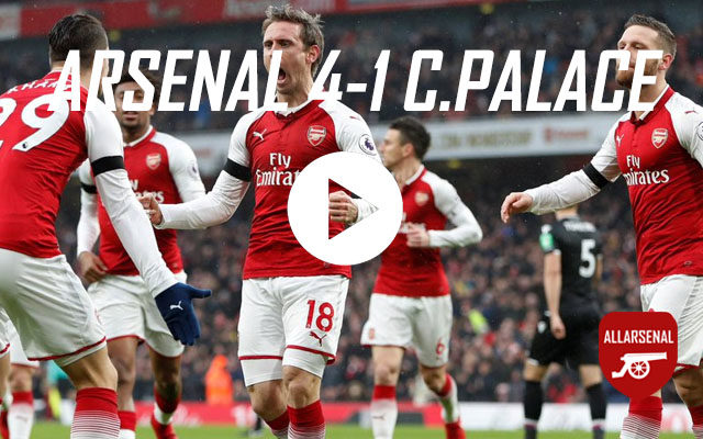 Arsenal 4-1 Crystal Palace – All The Goals And Best Bits Posted by Daniel Jenkins