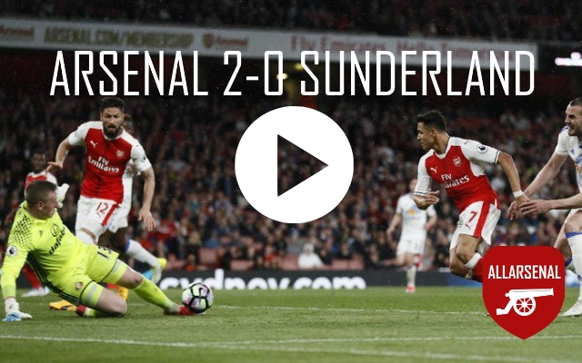 [Match Highlights] All The Goals And Best Bits: Arsenal 2-0 Sunderland