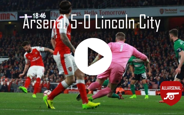 Arsenal 5-0 Lincoln City [Match Highlights] – All The Goals From This Thumping Win