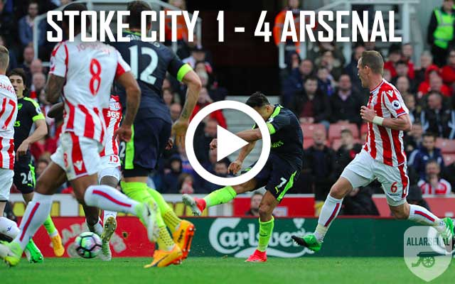 [Match Highlights] All The Goals As The Gunners Smash Stoke: Stoke City 1 – 4 Arsenal
