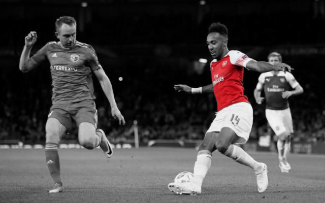 Gabon's Aubameyang strikes twice as Arsenal win Europa League tie (4-2)