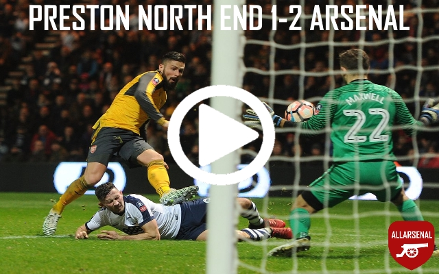 [Match Highlights] Preston North End 1-2 Arsenal – Gunners Struggle Early But Come Back To Win
