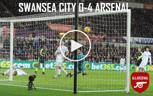 [Match Highlights] Swansea City 0-4 Arsenal – Check Out All The Goals And Best Bits