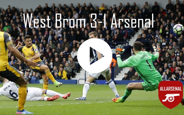 West Brom 3-1 Arsenal [Match Highlights] – All The Goals And Highlights