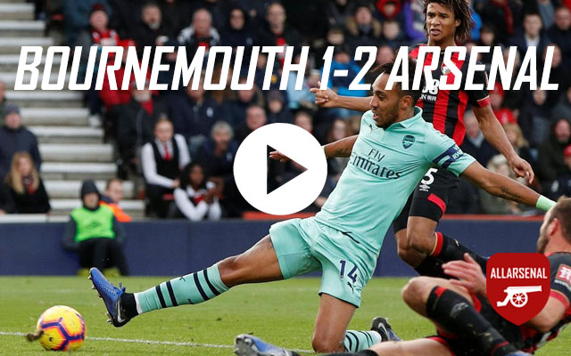 [Match Highlights] AFC Bournemouth 1-2 Arsenal – All The Goals And Best Bits