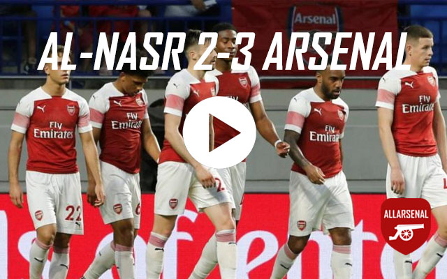 [Match Highlights] Al-Nasr Dubai 2-3 Arsenal – All The Goals And Best Bits