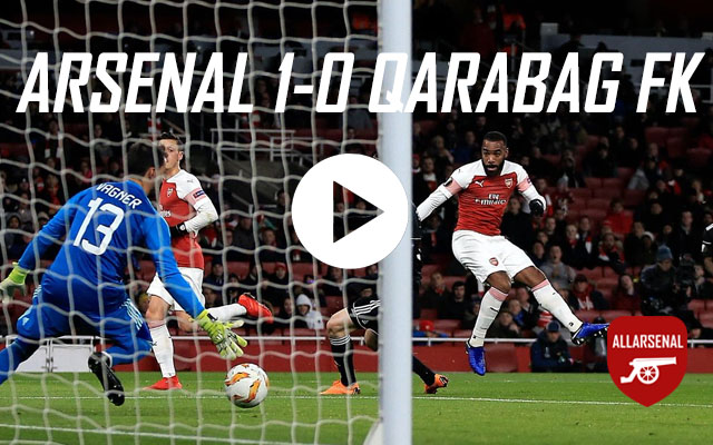 [Match Highlights] Arsenal 1-0 Qarabag FK – All The Highlights & Best Bits