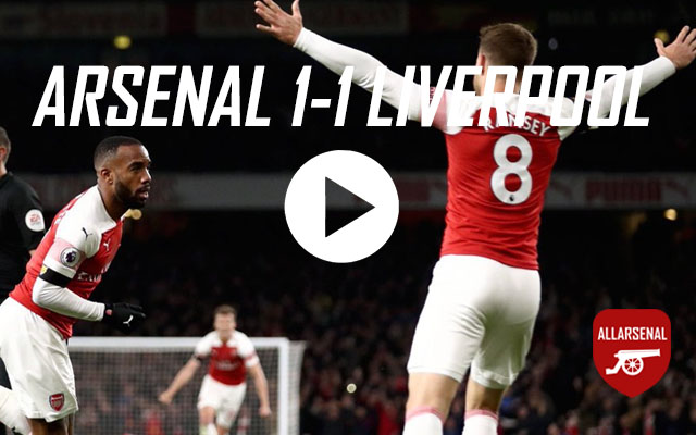 [Match Highlights] Arsenal 1-1 Liverpool – All The Goals And Best Bits