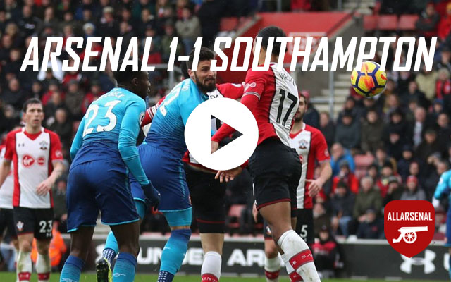 [Match Highlights] Southampton 1-1 Arsenal – All The Goals And Highlights