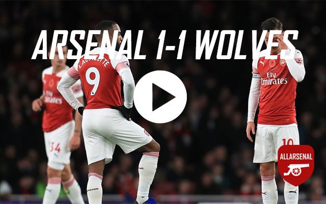 [Match Highlights] Arsenal 1-1 Wolves – All The Goals And Best Bits