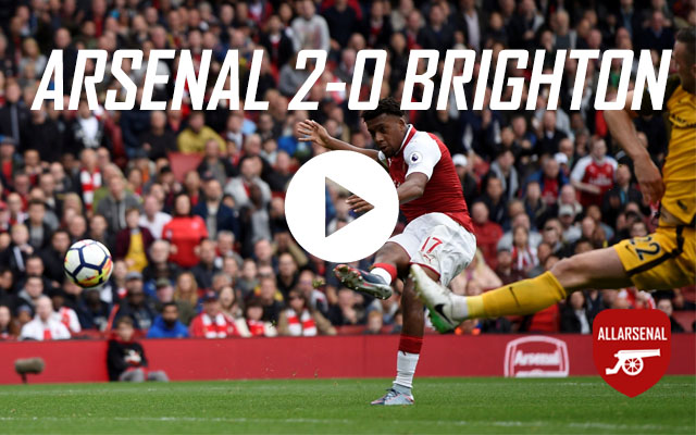 [Match Highlights] Arsenal 2-0 Brighton – All The Goals And Best Bits