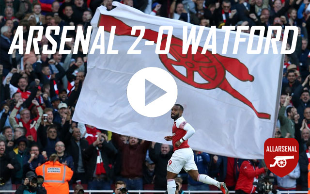 [Match Highlights] Arsenal 2-0 Watford – All The Goals & Best Bits