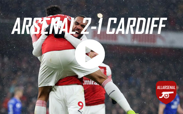 [Match Highlights] Arsenal 2-1 Cardiff City – All The Goals And Best Bits