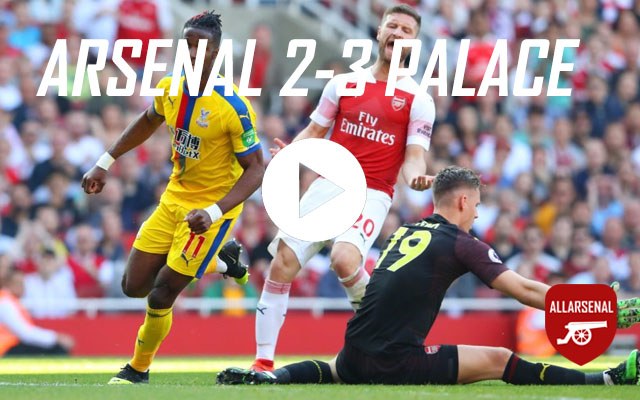 [Match Highlights] Arsenal 2-3 Crystal Palace – All The Goals And Highlights